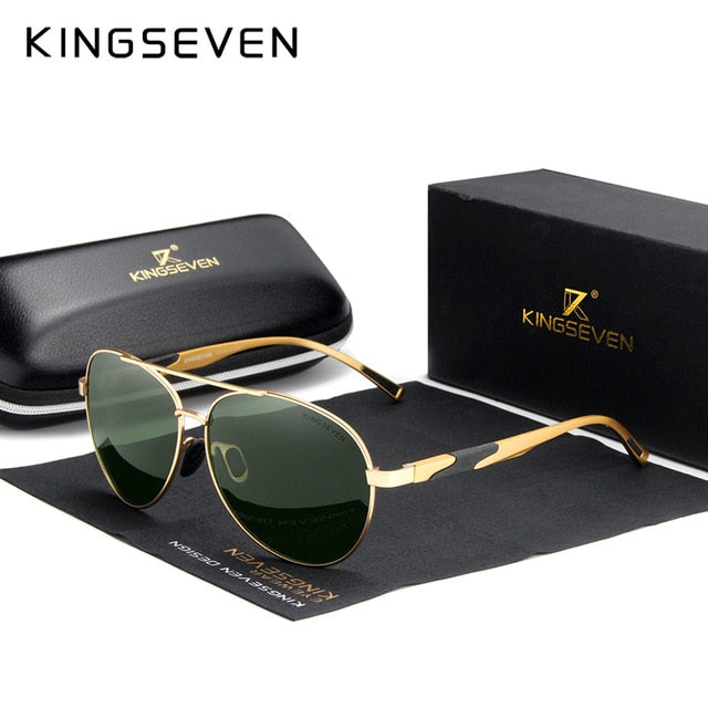 KINGSEVEN Brand Design Aluminum Men's Sunglasses Polarized High Definition Lens Driving Mirror Sun glasses Women Gafas De Sol - Slabiti