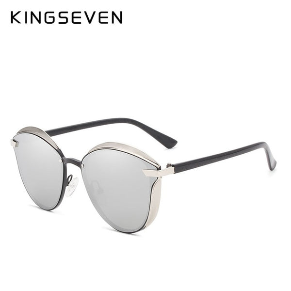KINGSEVEN Brand Design Cat Eye Sunglasses Women polarized Luxury Alloy Frame+TR90 Sun Glasses Fashion Retro Oculos De Sol Gafas - Slabiti