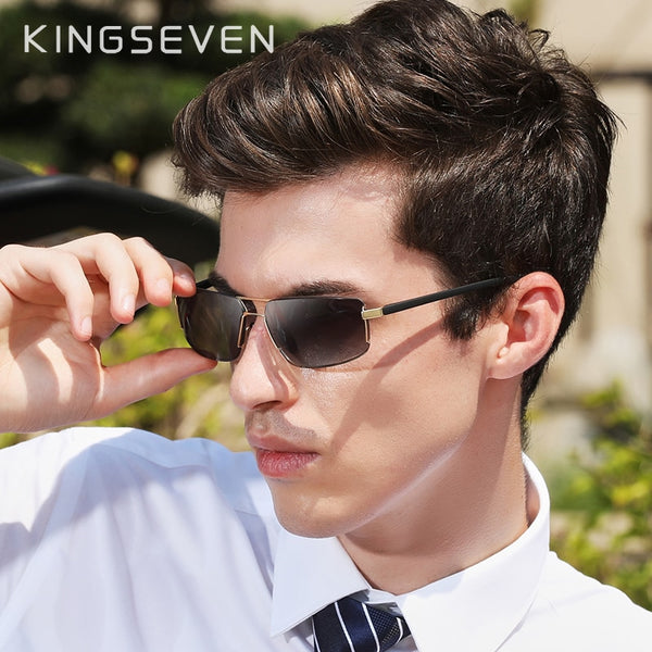 KINGSEVEN Brand Design Sunglasses Men Driving Square Frame Sun Glasses Male Classic Unisex Goggles Eyewear Gafas - Slabiti