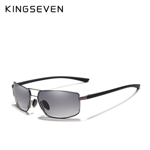 KINGSEVEN Brand Design UV400 Sunglasses Gradient Men Women Driving Male Square Sun Glasses Stainless steel Eyewear Oculos Gafas - Slabiti