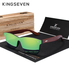 KINGSEVEN  Brand Rosewood Design Luxury Sunglasses Women Original Wood Handmade Sun Glasses Man Fashion Vintage Style - Slabiti