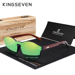 KINGSEVEN DESIGN 2020 Natural Handmade Wood Sunglasses Men Sun Glasses Women Brand Design Original Rosewood Glasses Oculo - Slabiti