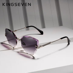 KINGSEVEN DESIGN Fashion Lady Sun glasses 2019 Rimless Women Sunglasses Vintage Alloy Frame Classic Brand Designer Shades Oculo - Slabiti