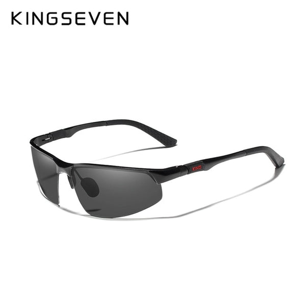 KINGSEVEN Driving Series Polarized Men Aluminum Sunglasses Blue Mirror Lens Male Sun Glasses Aviation Women For Men Eyewear 9121 - Slabiti