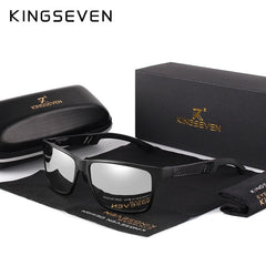 KINGSEVEN Men Polarized Sunglasses Aluminum Magnesium Sun Glasses Driving Glasses Rectangle Shades For Men Oculos masculino Male - Slabiti