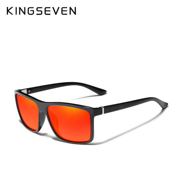 KINGSEVEN Men's Glasses TR90 Polarized Lens Sunglasses Mirror Square Goggle Eyewear Accessories For Men Female Sun Glasses Gafas - Slabiti
