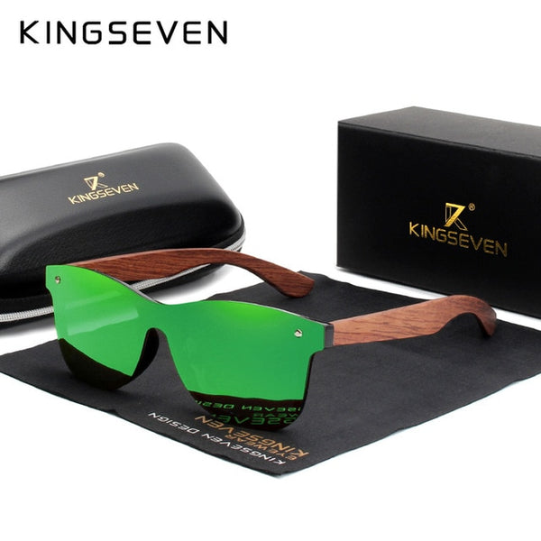 KINGSEVEN Natural Wooden Sunglasses Men Polarized Fashion Sun Glasses Original Wood Oculos de sol masculino - Slabiti