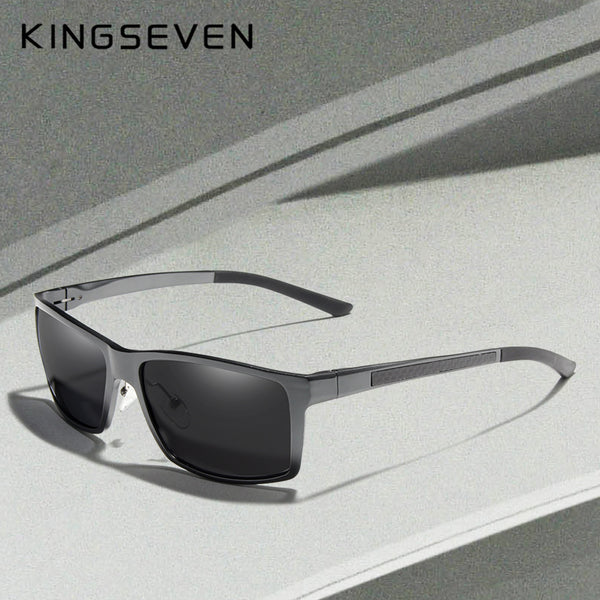 KINGSEVEN New Design Aluminum Magnesium Sunglasses Men Polarized Square Driving Sun Glasses Male Eyewear Accessories For Men - Slabiti