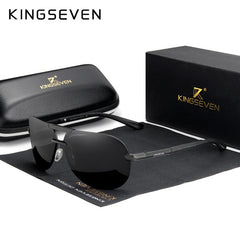 KINGSEVEN Original High Quality Polarized Sunglasses Men Women Pilot Driving Aluminum+TR90 Sun Glasses Goggle UV400 - Slabiti