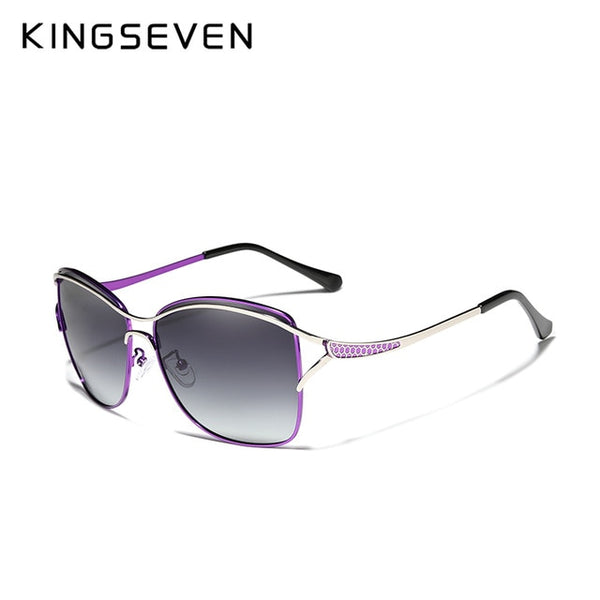 KINGSEVEN Retro Womens Sun glasses Polarized Luxury Ladies Brand Designer Gradient Lens Sunglasses Eyewear For Women Female - Slabiti