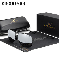 KINGSEVEN Women Men Sunglasses Polarized Mirror Lens Vintage Eyewear Driving Sun glasses Aluminum Temple Gafas de sol Masculino - Slabiti