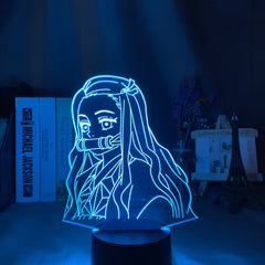 Kimetsu No Yaiba Nezuko Kamado Figure Led Night Light for Bedroom Decor Nightlight Kids Child Table 3d Lamp Demon Slayer Gift - Slabiti