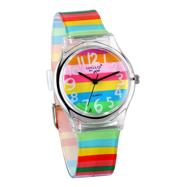 LANCARDO Rainbow Quartz Watch Women Ladies Christmas Brand Luxury Girl Silicone Wrist Watch Clock Montre Femme Relogio Feminino - Slabiti