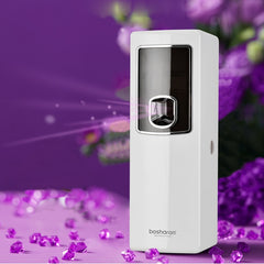 LCD Smart Air Freshener For Homes Automatic Aerosol Dispenser Hotel Bathroom Toilet Fragrance Perfume Sprayer Machine Wall Mount - Slabiti
