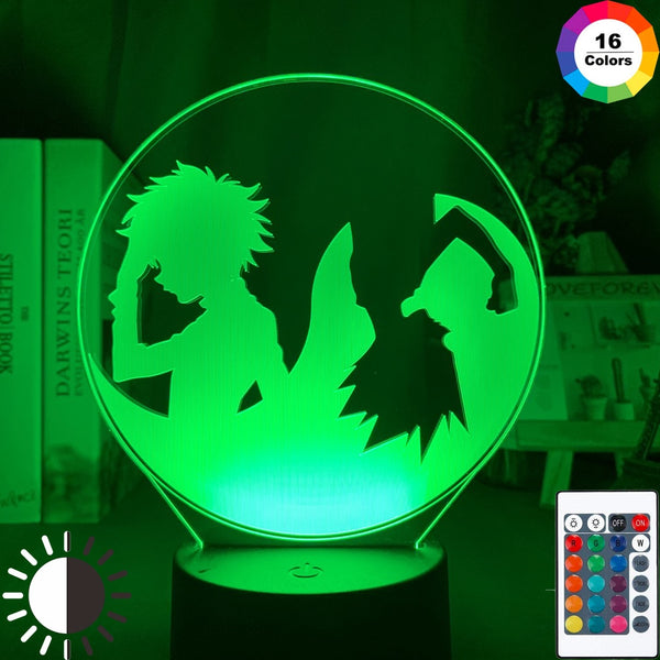 Led Night Light Anime Hunter X Hunter Gon Freecss and Killua Zoldyck Illusion Nightlight for Child Bedroom Decor Desk Lamp Gift - Slabiti