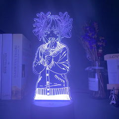 Led Night Light My Hero Academia Toga Himiko Figure Gift Nightlight for Kids Bedroom Decoration Light Bedside Table 3d Lamp USB - Slabiti