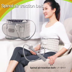 Lumbar Air Traction Belt Back Waist Brace Support Belt Waist Lumbar Spine Backache Pain Release Massager Health Care Tools - Slabiti