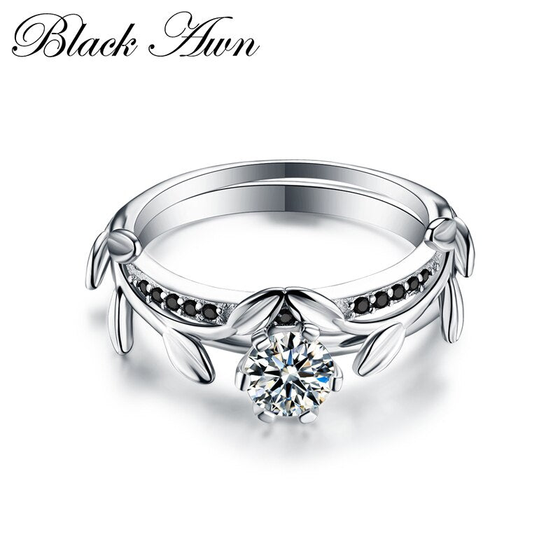 Luxury Anillos Mujer Neo-Gothic High Quality 925 Sterling Silver Jewelry Trendy Wedding Rings for Women Engagement Ring C128 - Slabiti