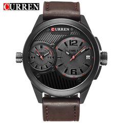 Luxury Brand CURREN Fashion Multiple Time Zone Business Men Watches Casual Quartz Male Clock  Hodinky Relogio Masculino - Slabiti
