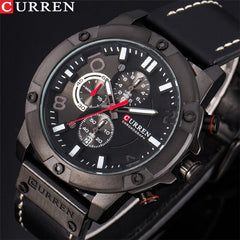 Luxury Brand CURREN Fashion Sports Men Watches Chronograph Army Military Quartz Male Clock Leather Strap Relogio Masculino - Slabiti