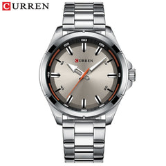 Luxury Brand CURREN Gray Watches Mens Quartz Business Wristwatch Fashion Clock Classic Steel Band Watch Reloj Hombres - Slabiti