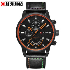 Luxury Brand CURREN Men's Watch Military Quartz Analog Sport Wristwatch Leather Mens Watch Male Clock With Date Relogio Homem - Slabiti