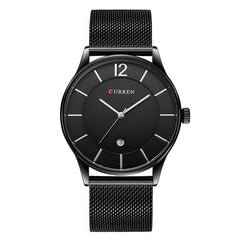 Luxury Brand CURREN Simple Fashion Style Casual Military Quartz Men Watches Ultra-thin Full Steel Male Clock Date Wristwatch - Slabiti