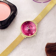 Luxury Brand Lady Crystal Watch Women Casual Dress Bracelet Watches CURREN Reloj Mujer 2018 Quartz Wrist Watch Relogio Feminine - Slabiti