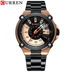Luxury Design Watch for Men CURREN Quartz Military Watch Business Stainless Steel Date Wristwatches Male Clock Reloj Hombres - Slabiti