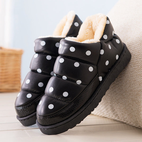 MCCKLE Women Slippers Star Dot Home Shoes Woman Indoor Warm Plush Winter Flat Female Waterproof Ladies Platform Casual Shoes - Slabiti