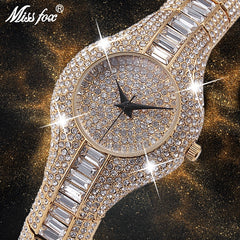 MISSFOX 30mm Small Womens Watch Shockproof Waterproof Luxury Ladies Ar Metal Watch bracelets Rhinestone Bu Cheap Chinese Watches - Slabiti