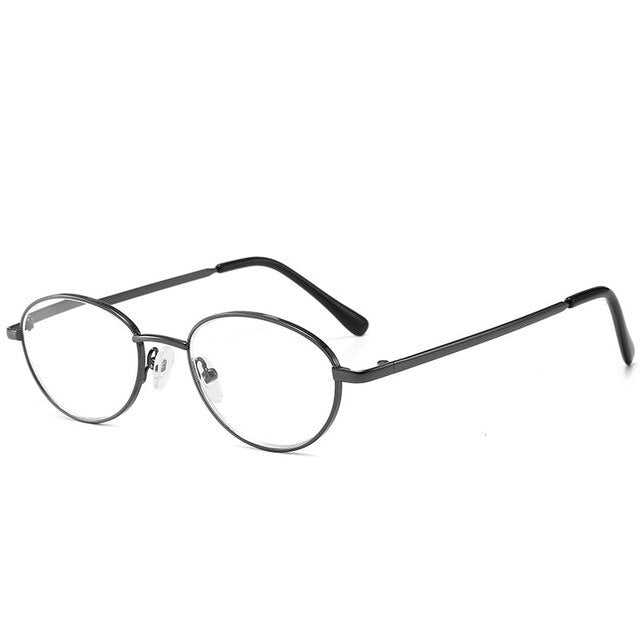 MOLNIYA Oval Metal Frame Reading Glasses Men Blue Ray Ultralight Presbyopia Reading Glasses +1.0 +1.5 +2.0 +2.5 +3.0 +3.5 - Slabiti