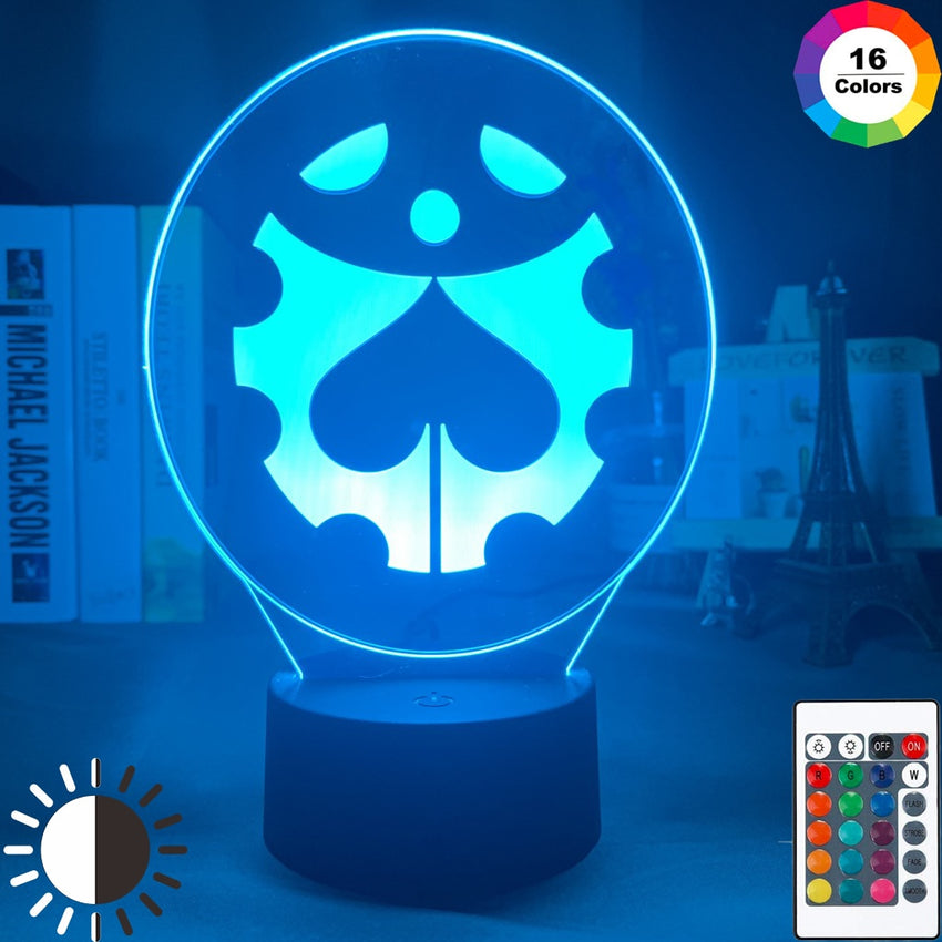 Manga JoJo's Bizarre Adventure Logo Design Led Night Light Touch Sensor Colorful Nightlight for Kids Bedroom Decor 3d Lamp Gift - Slabiti