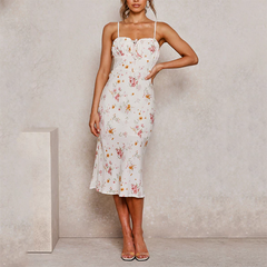 Maxi-Dress Holiday Floral Print Long Maxi Dress Evening Party Beach Dresses Summer Sundress 2020 Boho Women Boho Dress - Slabiti
