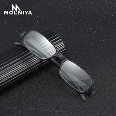 Men Ultralight Reading Glasses New Square Presbyopia Eyeglasses Metal + TR90 Reading Eyewear Soft Diopter +1.0 to 4.0 - Slabiti