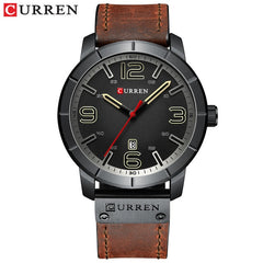 Men Watch 2019 CURREN Men's Quartz Wristwatches Male Clock Top Brand Luxury Reloj Hombres Leather Wrist Watches with Calendar - Slabiti