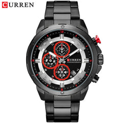 Men's Luxury Brand CURREN New Fashion Casual Sports Watches Mens Quartz Stainless Steel Band Wristwatch Male Clock Reloj Hombres - Slabiti