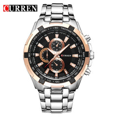 Men's Stainless Steel Wristwatch Analog Sport Quartz Mens Watches CURREN 8023 Fashion Business Watch Reloj hombres Dropshipping - Slabiti