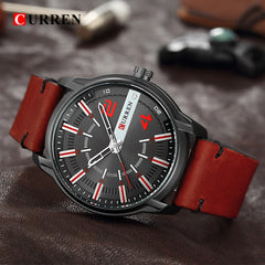 Men's Watches Brand CURREN New Casual Business Military Quartz Wristwatch Leather Strap Clock Relogio Masculino Reloj Hombre - Slabiti