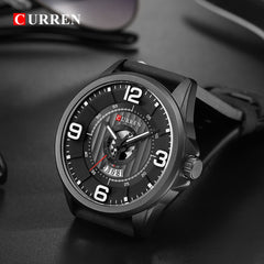 Mens Watches Top Brand CURREN Leather Wristwatch Analog Army Military Quartz Time Man Waterproof Clock Fashion Relojes Hombre - Slabiti