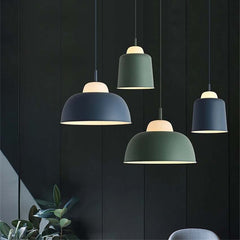 Modern colorful suspension lamp Nordic Macaroon industrial lighting restaurant cafe iron pendant lights bedroom aisle hanglamp - Slabiti