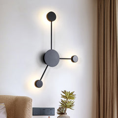 Modern indoor Round Dot  wall lights creative Black Gold White shade led wall lamp bathroom bedroom wall sconces luminaire - Slabiti