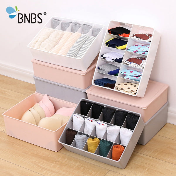 Multi-size Underwear Organizer Storage Can Adjust The Partition Drawer Closet Organizers Boxes For Bras Briefs Socks Ties Scarfs - Slabiti