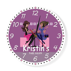 Nail Tech Modern Wall Clock Beauty Salon Spa Art Decor Printed Personalised Wall Clock Manicurist Salon Custom Technician Gift - Slabiti