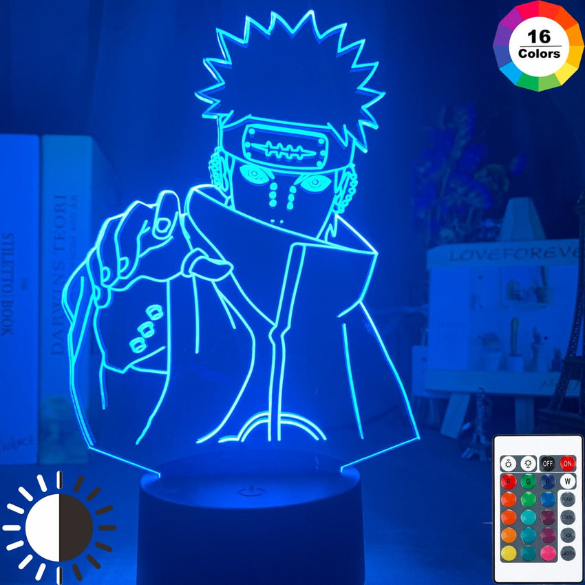 Naruto Nagato Figure Kids Night Light Led Color Changing Child Bedroom Nightlight Birthday Gift Table Lamp Six Paths of Pain - Slabiti