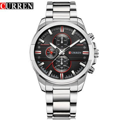 New CURREN Fashion Luxury Men Watches Relogio Masculino Full Steel Clock Army Military Quartz-Watch Wristwatch Reloj Hombre - Slabiti
