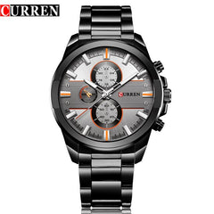 New Curren Luxury Brand Watches Men Quartz Fashion Casual Male Sports Watch Full Steel Military Watches Relogio Masculino - Slabiti