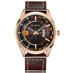New Fashion Analog Quartz Men's Watch Top Brand CURREN Casual Leather Strap Wristwatch With Date Gift For Man Montre Homme - Slabiti