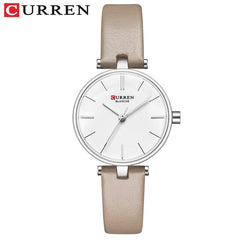 New Fashion CURREN Brand Simple Leather Strap Gold Watches Women Clock Ladies Casual Dress Quartz Wristwatch Reloj Mujer Gift - Slabiti