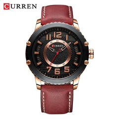 New Leather Watches Mens Top Brand CURREN Fashion Men's Clock Causal Business Quartz Wristwatch Gift Relogio Masculino - Slabiti